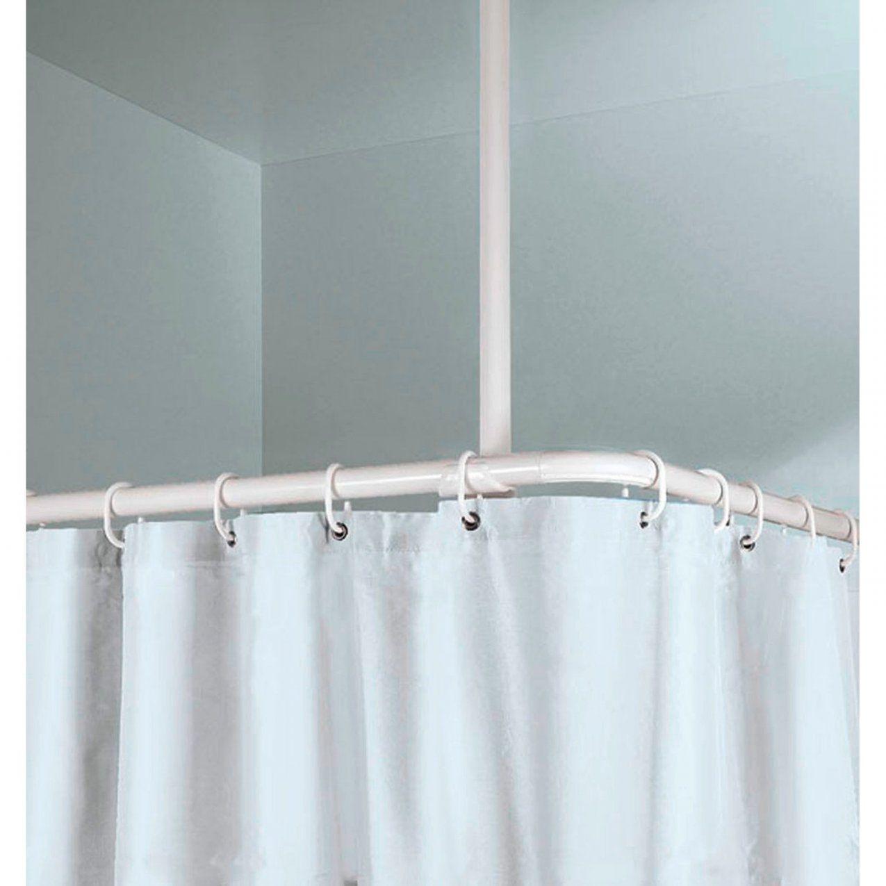 Obi Stange Deckenhalter 60 Cm Länge (25 Mm) Weiß Kaufen Bei Obi von Duschvorhang Mit Stange Für Badewanne Photo