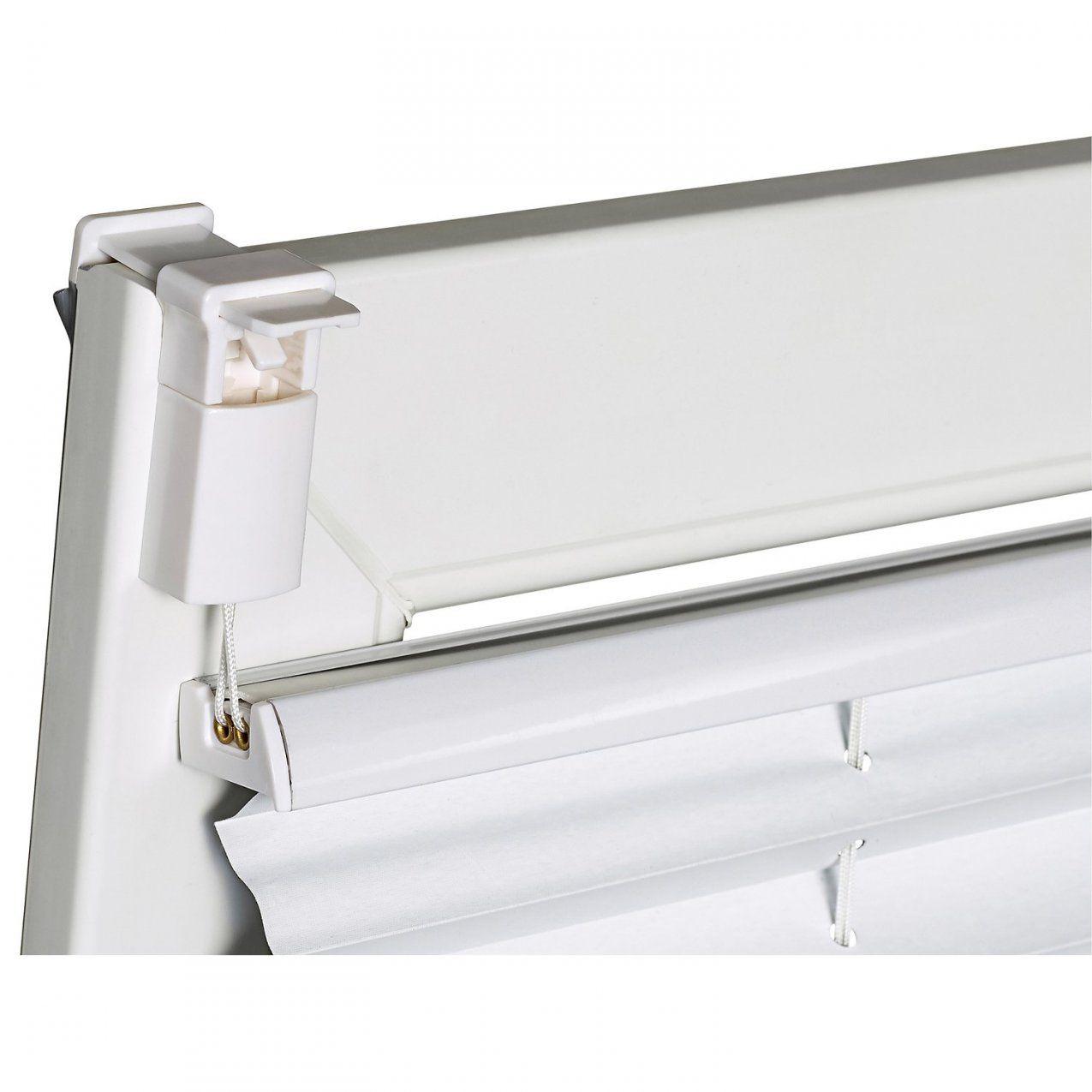 Obi Verspanntes Thermoplissee Tona 45 Cm X 130 Cm Weiß Kaufen Bei Obi von Rollos Ohne Bohren Obi Photo