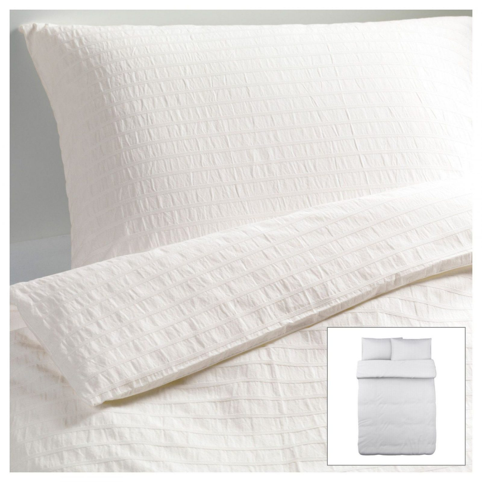Ofelia Vass Duvet Cover And Pillowcase(S) White  Duvet Bedrooms von Ikea Satin Bettwäsche Photo