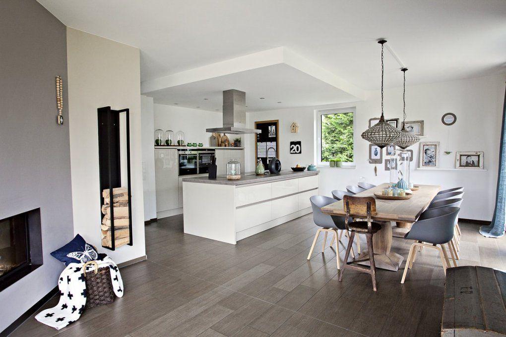 Offene Küche  Creadev von Moderne Wohnzimmer Mit Offener Küche Bild