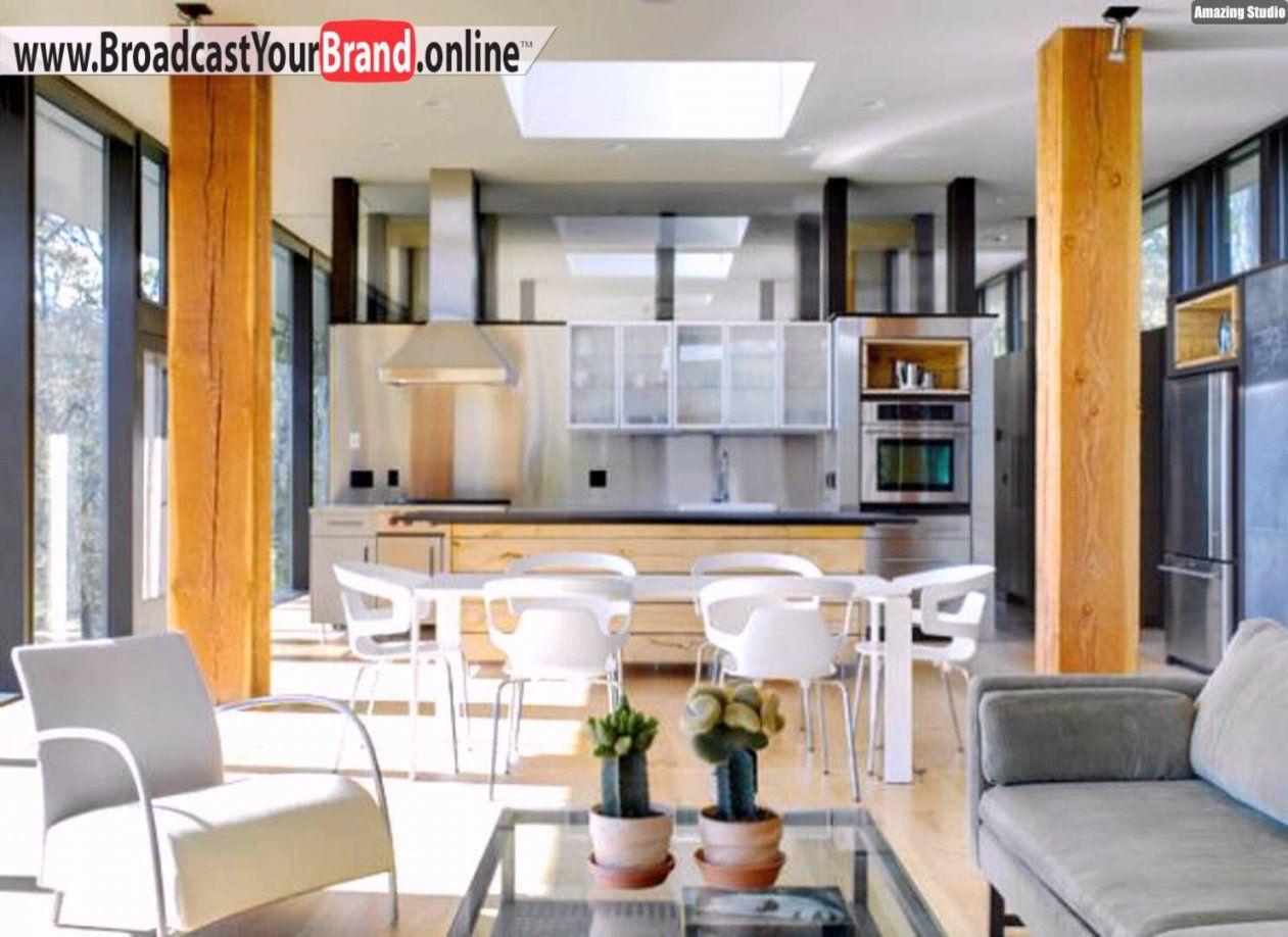 Offene Küche Esszimmer Möbel Moderne Einrichtung  Youtube von Säule Im Wohnzimmer Gestalten Bild