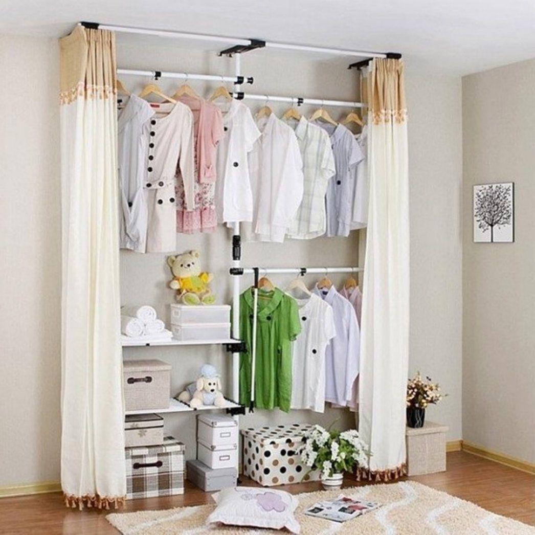 Vorhang kleiderschrank selber bauen haus design ideen - Kleiderschrank selber bauen mit vorhang ...