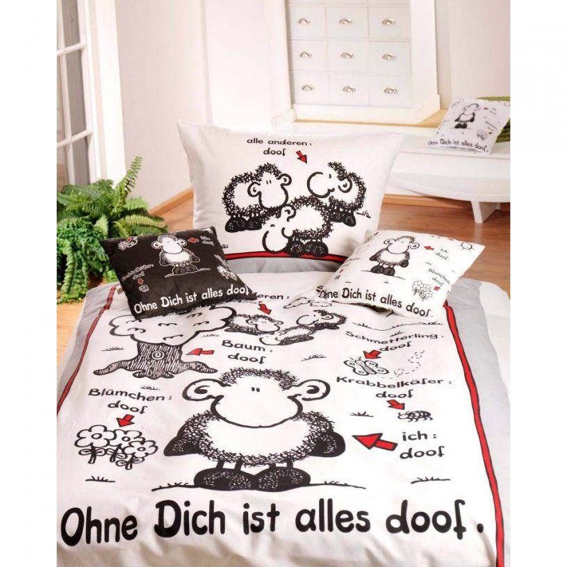 Ohne Dich Ist Alles Doof Bettwäsche In 135X200 Cm  Dänisches von Sheepworld Bettwäsche 155X220 Bild
