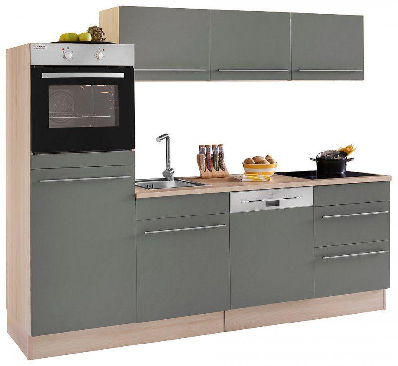 Optifit Küchenzeile Mit Egeräten Bern Breite 240 Cm Mit von Küchenzeile 240 Cm Mit Kühlschrank Photo