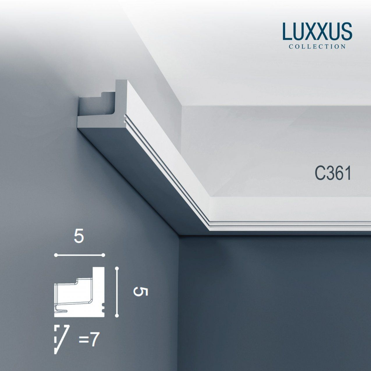Orac Decor C361 Luxxus Profil Stuck Wand Zierleiste Indirekte von Stuckleiste Für Indirekte Beleuchtung Bild