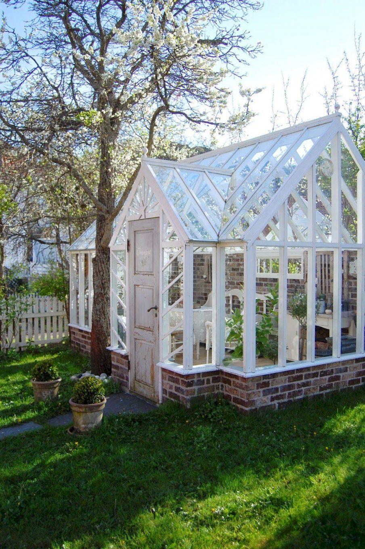 Orangerie Gewächshaus  Garten  Pinterest  Gärten Wintergärten von Viktorianisches Gewächshaus Selber Bauen Bild