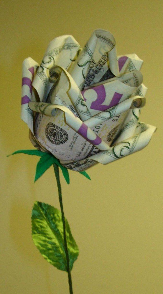 Origami Rose Anleitung  Origami Rose Origami Und Geld von Origami Rose Geldschein Anleitung Bild