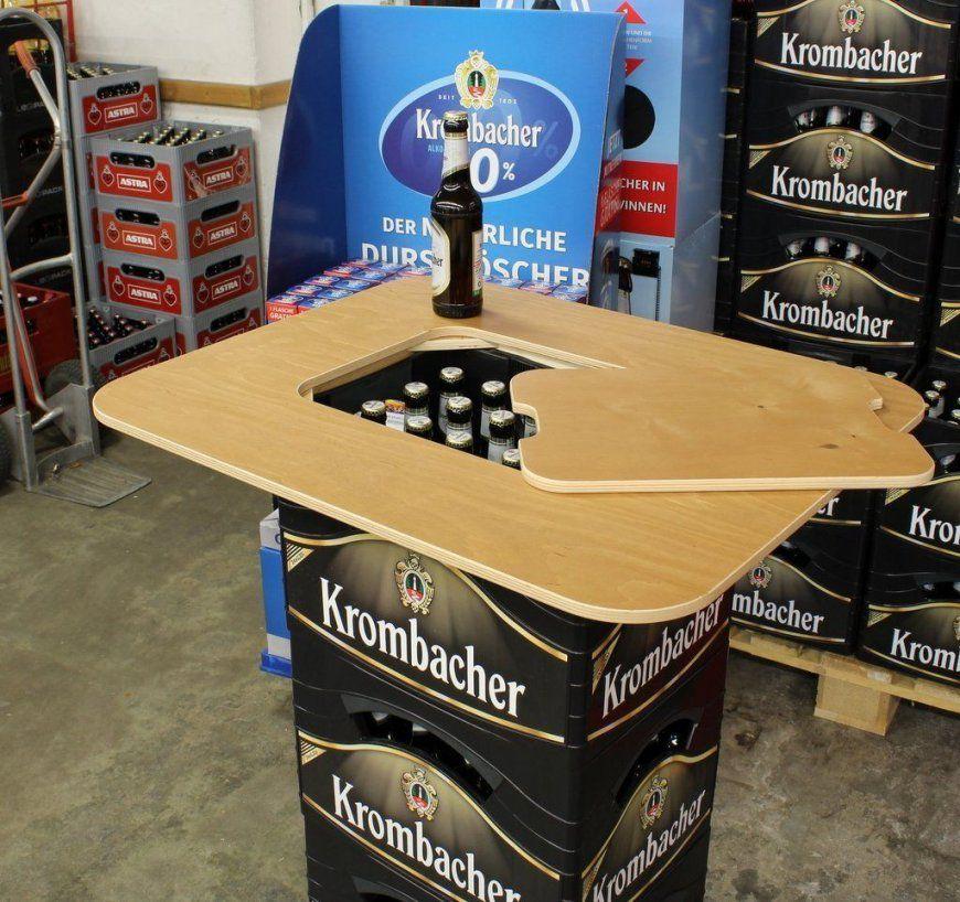Original Bestloftac2Ae Bierkasten Stehtisch Partytisch Bistrotisch von Bauanleitung Stehtisch Selber Bauen Bild