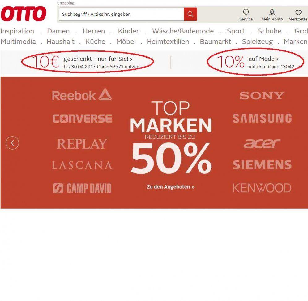 Otto 10 Euro Gutschein Mbw 10€ (Bestandskunden) von 15 Euro Gutschein Otto Bild
