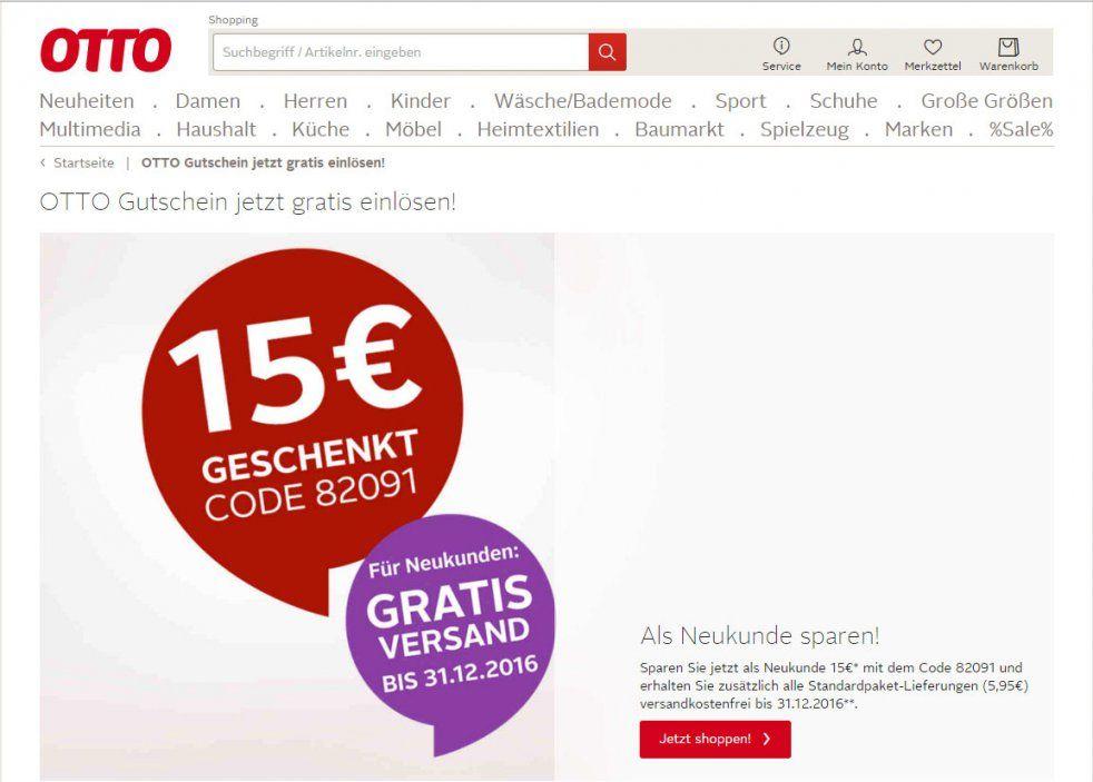 Otto 15€ Gutschein