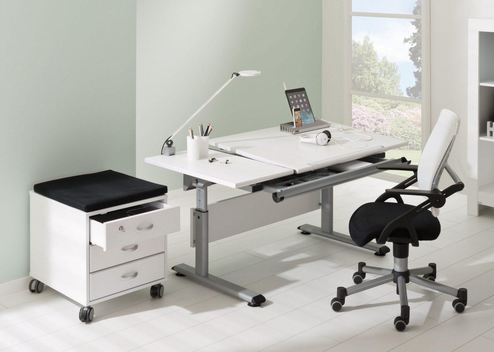 Paidi Marco 2 130 Gt Schreibtisch Weiß  Platte Geteilt  Möbel Letz von Paidi Schreibtisch Marco 2 Gt Bild