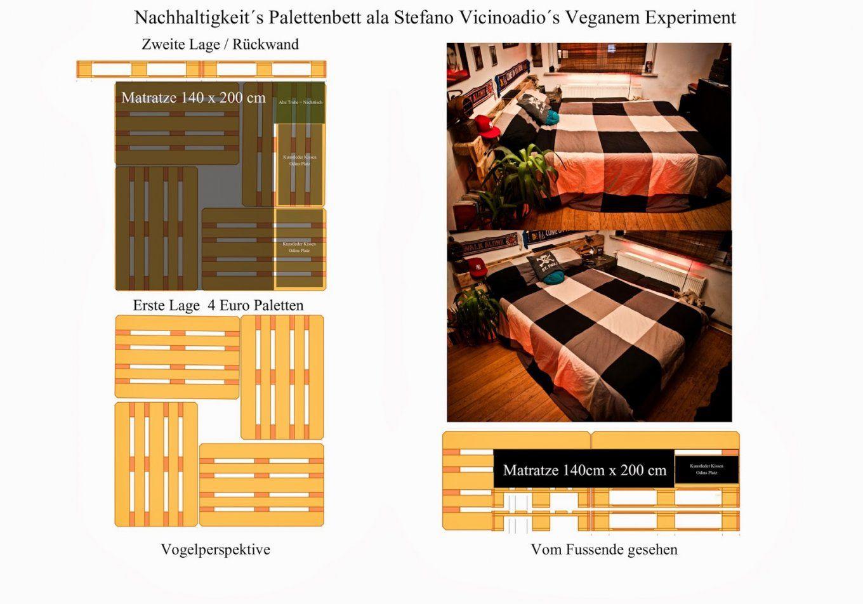Paletten Bett 140X200 Fesselnd Auf Kreative Deko Ideen In von Bett Aus Paletten Bauen 140X200 Bild