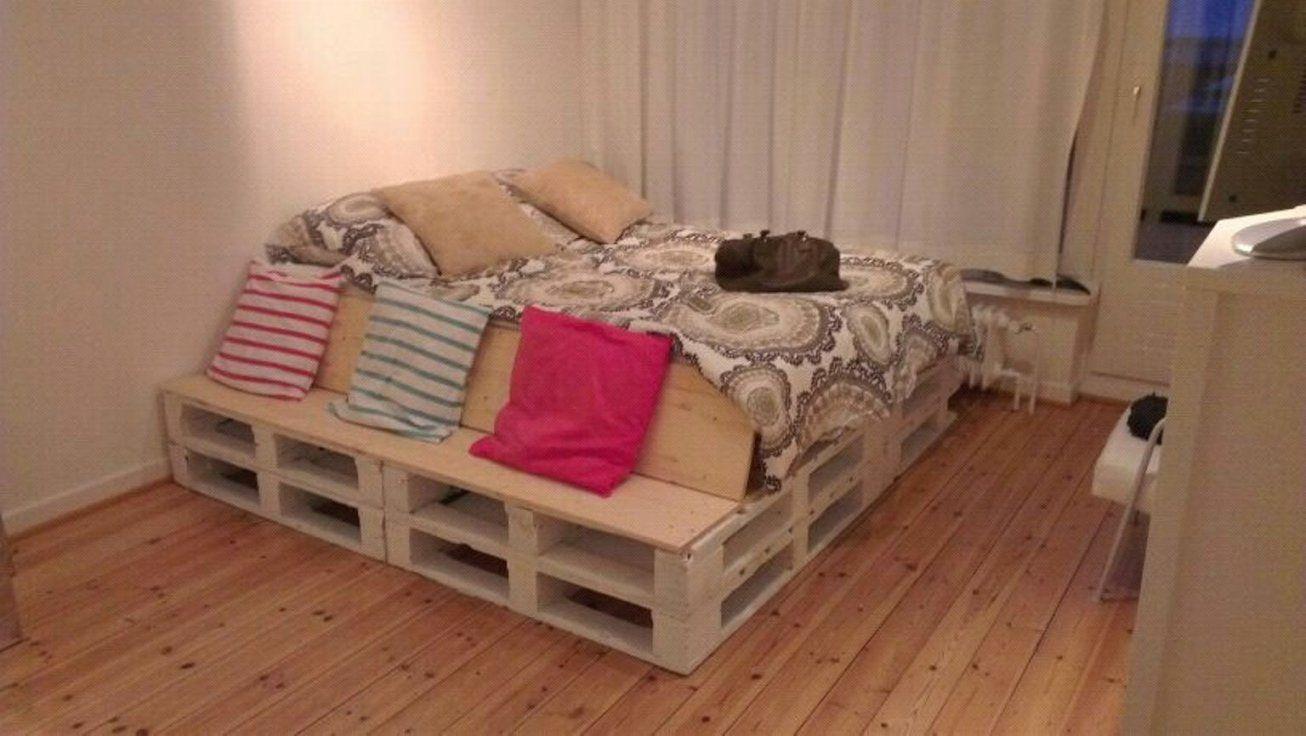 Paletten Bett 200X200 Wunderbar Auf Dekoideen Fur Ihr Zuhause Auch von Europaletten Bett Mit Lattenrost Photo