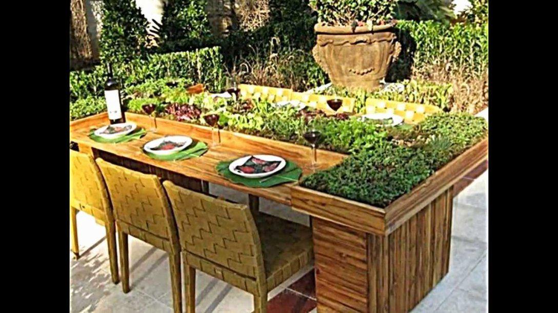 Paletten Ideen Garten Neu Tisch Selber Bauen Kreativ  House Konzept von Gartentisch Selber Bauen Kreativ Bild