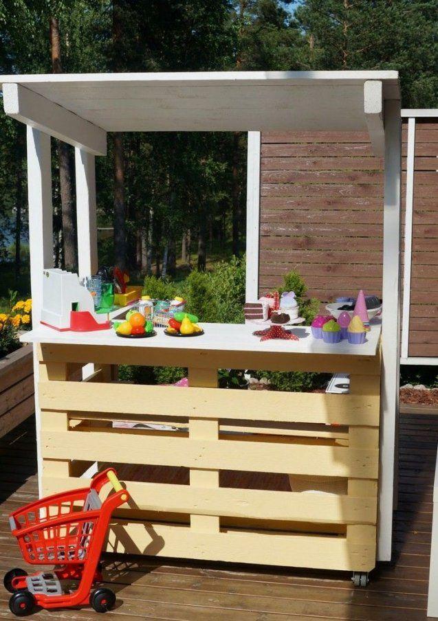 Palettenmoebelselberbauenoutdoorbargartenterrassekinder von Mobile Bar Selber Bauen Photo
