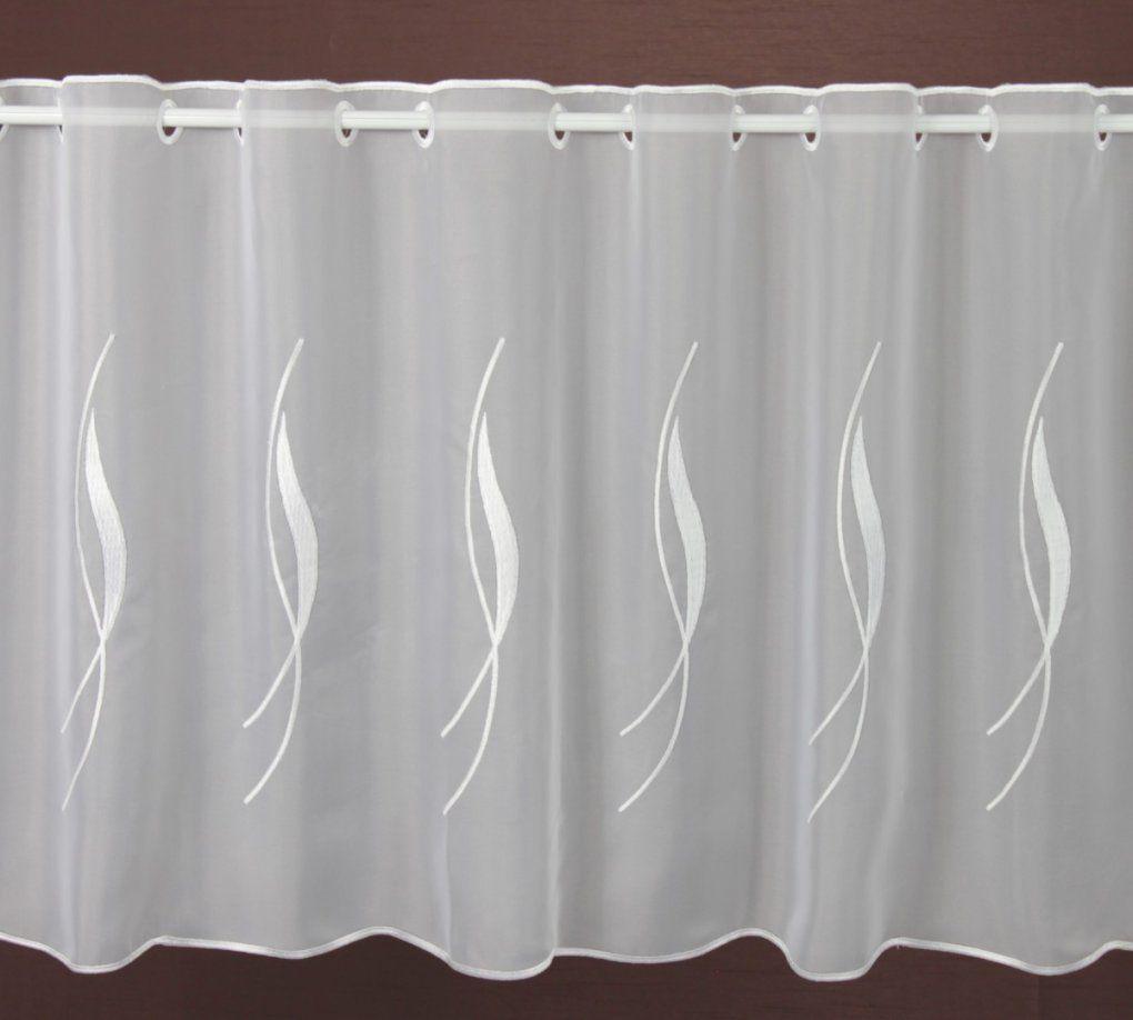 Panneaux Weiß Sugar Höhe 55Cm  Scheibengardinen Meterware von Scheibengardinen 80 Cm Hoch Photo