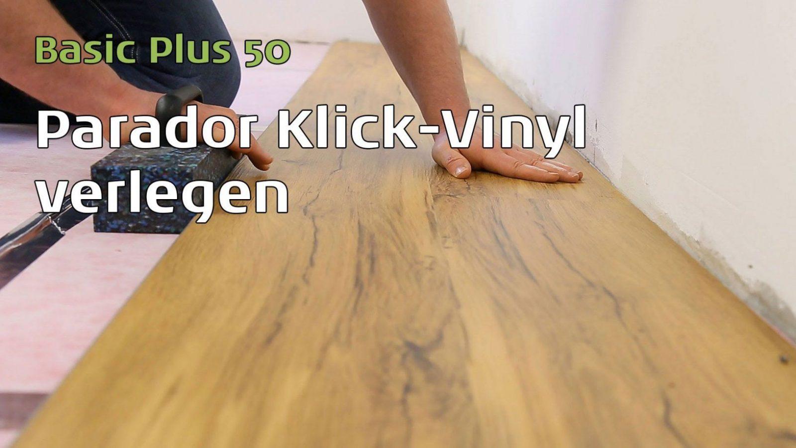 Parador Vinylboden Verlegen  Youtube von Vinyl Fliesen Verlegen Anleitung Bild