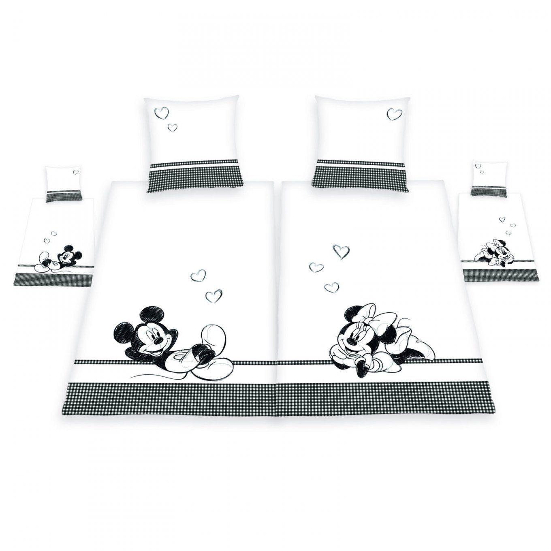Partnerbettwäsche Disney´s Mickey & Minnie Maus  155X220 Cm von Bettwäsche Minni Maus Bild