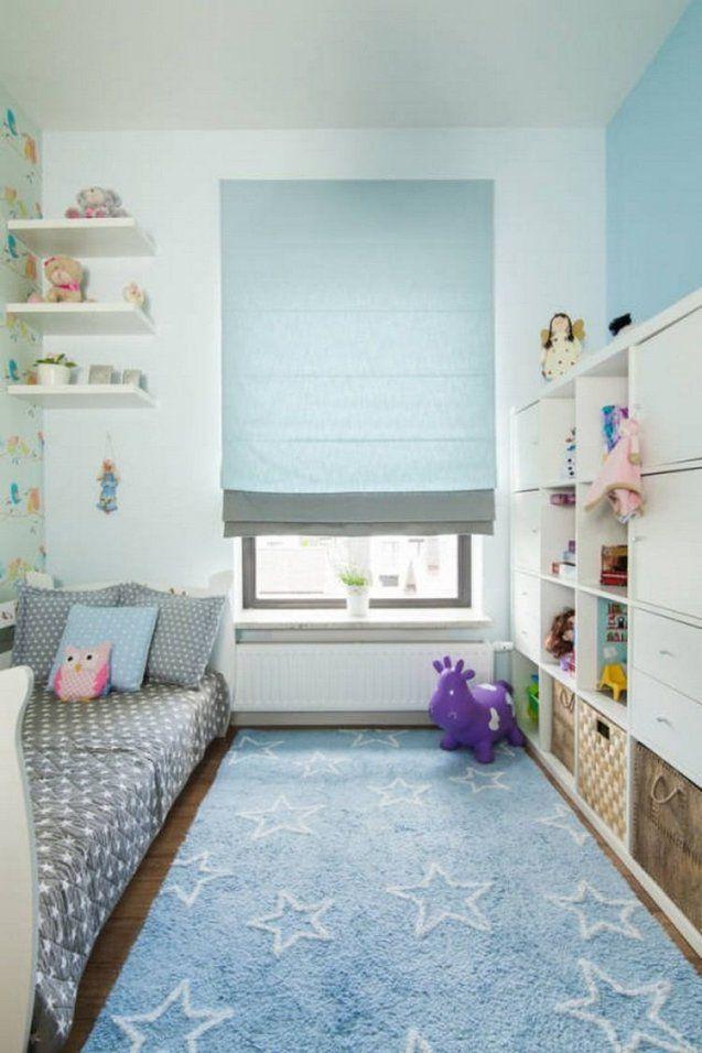 Pastellblaue Akzente Im Kinderzimmer Und Weiße Wandfarbe  Kids von Möbel Für Kleine Kinderzimmer Bild