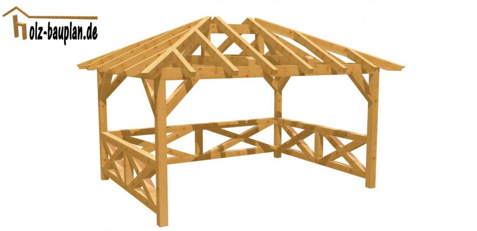 Pavillon Einfach Selber Bauen  Youtube von Gartenpavillon Aus Holz Selber Bauen Bild