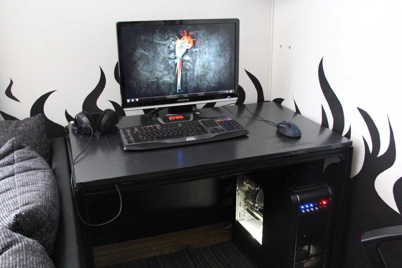 Pc Schreibtisch Elegant Dekor Über Pc Schreibtisch Ideen Ehrf von Computer Schreibtisch Selber Bauen Bild