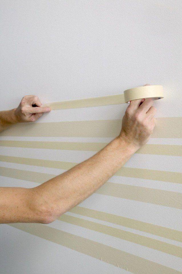 Peinture Décorative Dessin Géométrique Sublimez Les Murs  Wände von Wand Streichen Ideen Streifen Photo