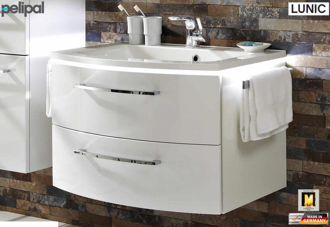 Pelipal Lunic Waschtisch Set 80 Cm Breite  48 Cm Tiefe  Impuls Home von Waschtisch 80 Cm Breit Bild