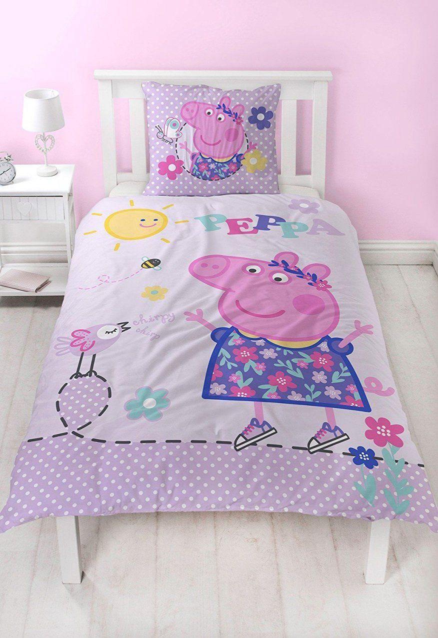 Peppa Pig Flanell Mädchen Bettwäsche Wende Motiv Warm & Kuschelig von Bettwäsche Biber Mädchen Bild