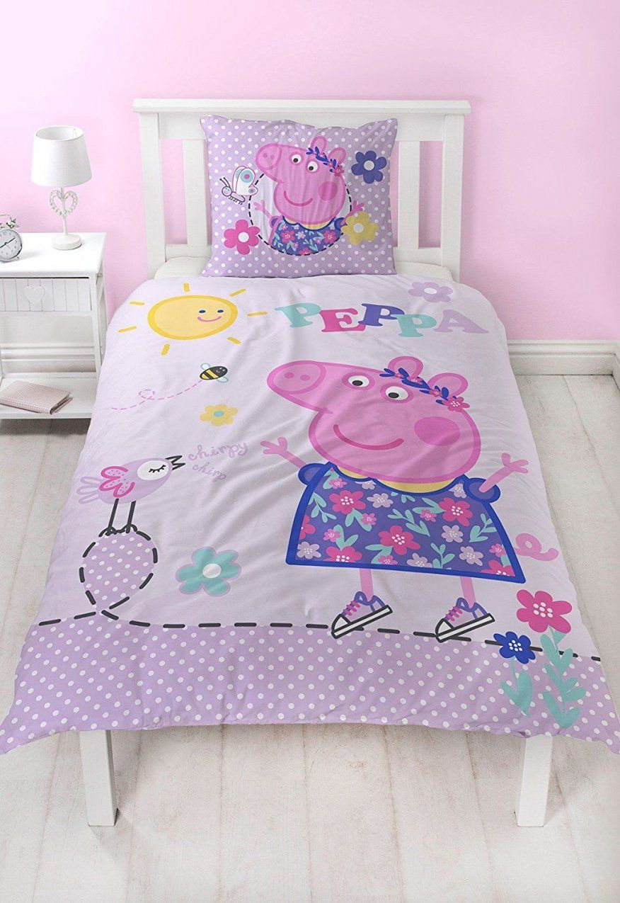 Peppa Pig Flanell Mädchen Bettwäsche Wende Motiv Warm & Kuschelig von Biber Bettwäsche Mädchen Bild