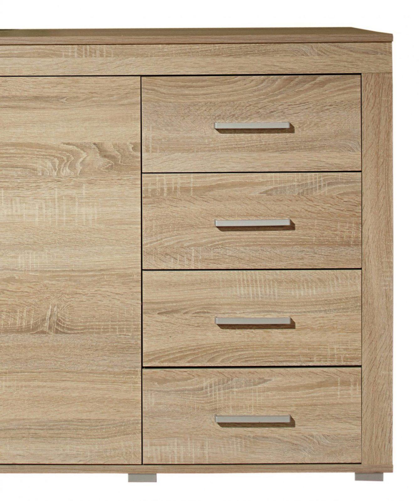 Perfekt Sideboard Malmö 160 Cm Breit 2 Türen 4 Schubladen Eiche Zum von Raffrollos 160 Cm Breit Bild