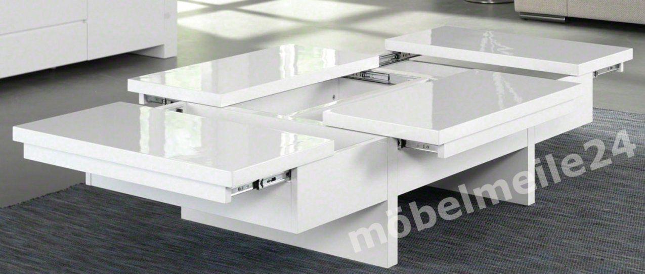 Perfekte Couchtisch Weiß Hochglanz Höhenverstellbar Modern von Couchtisch Höhenverstellbar Modern Bild