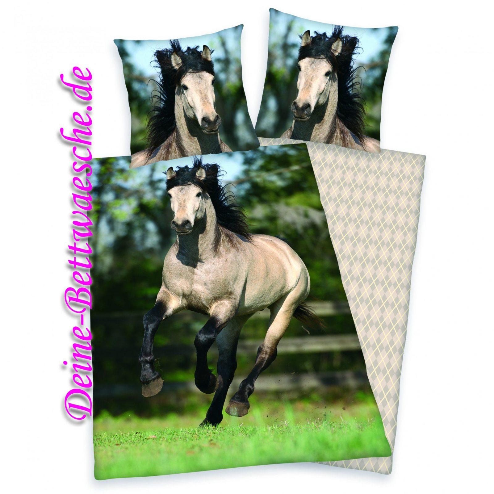 Pferde Bettwäsche Galopp Aus 100% Baumwolleonlineshop Für von Pferde Bettwäsche Kinder Bild