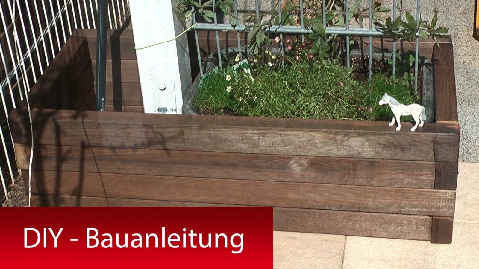 Pflanzkasten Pflanzkübel Mit Rankhilfe Selber Bauen  Diy Tutorial von Blumenkübel Selber Bauen Anleitung Bild