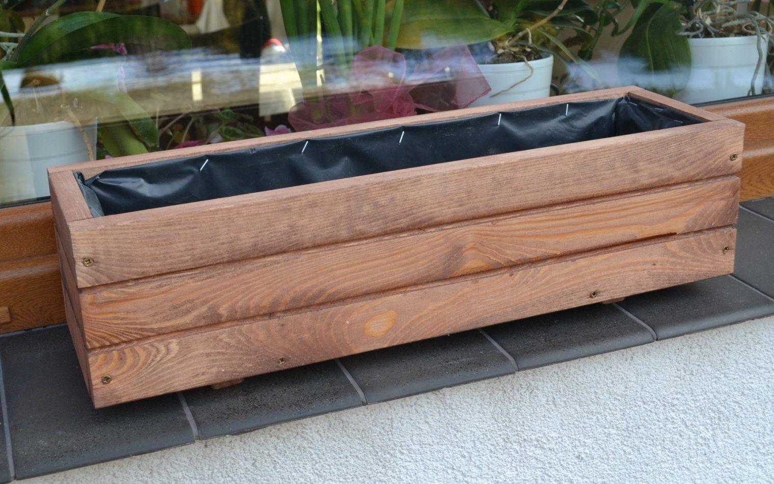 Pflanzkübel Holz D2 Pflanzkasten 80 100 Cm Xxl Blumenkasten Avec von Pflanzkübel Aus Holz Selber Bauen Bild