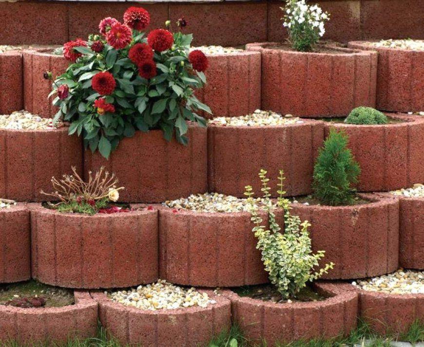 Pflanzsteine Setzen Einfach Mit Kleinen Garten Pflanzsteinen von Garten Gestalten Mit Pflanzsteinen Bild