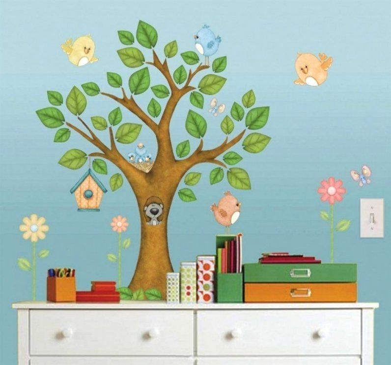 Phantasievolle Ideen Wandbild Baum Kinderzimmer Und Schöne von Wandbilder Kinderzimmer Selber Malen Photo