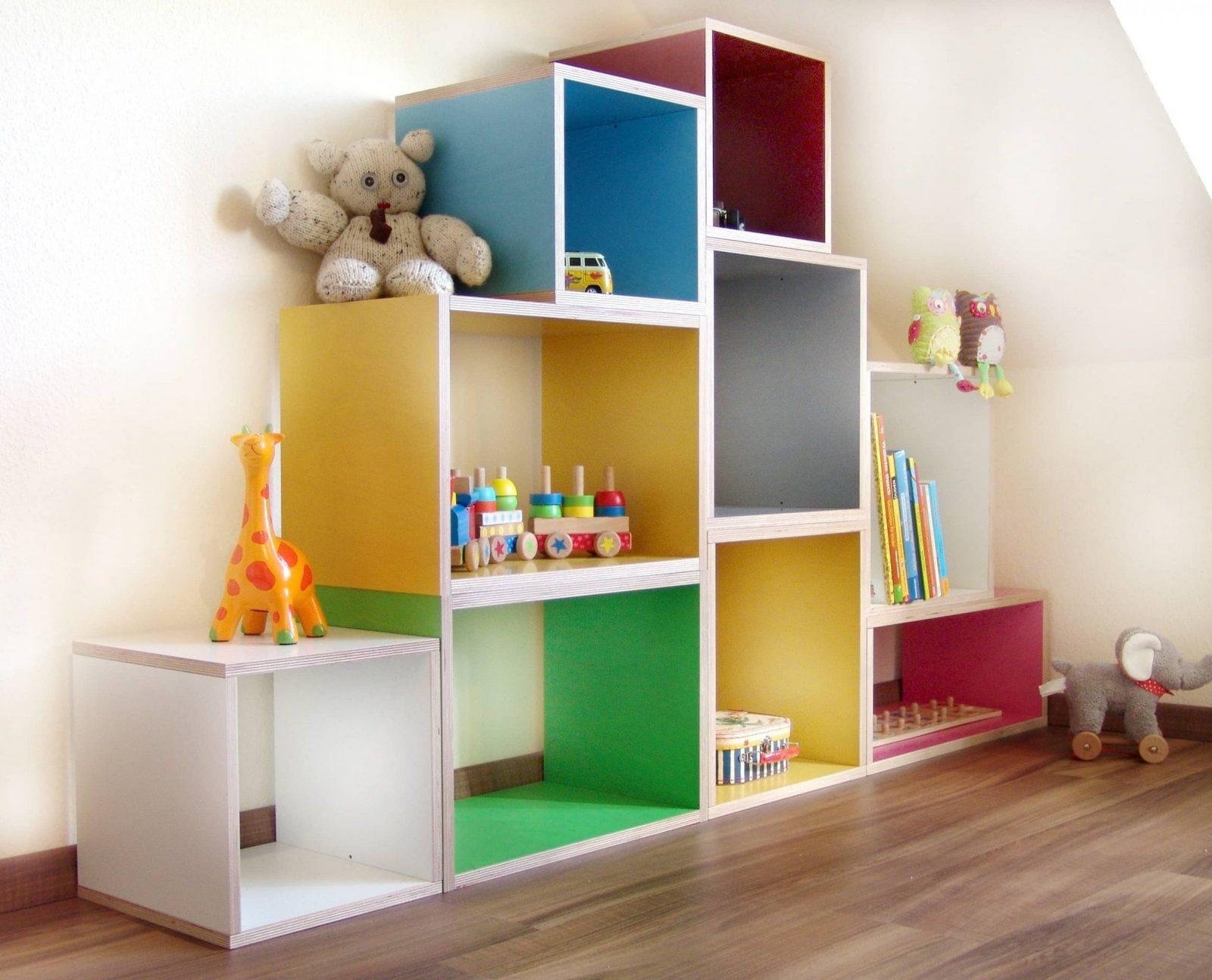 Phantasievolle Inspiration Stufenregal Kinderzimmer Und Intelligente von Kinderzimmer Regal Mit Kisten Photo