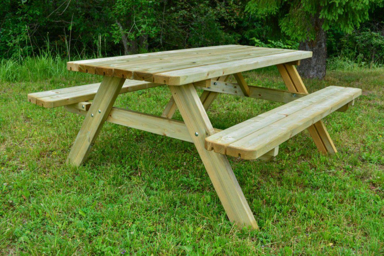 Picknicktisch Gartengarnitur Sitzgruppe Sitzgarnitur Holz von Bank Tisch Kombination Holz Bild