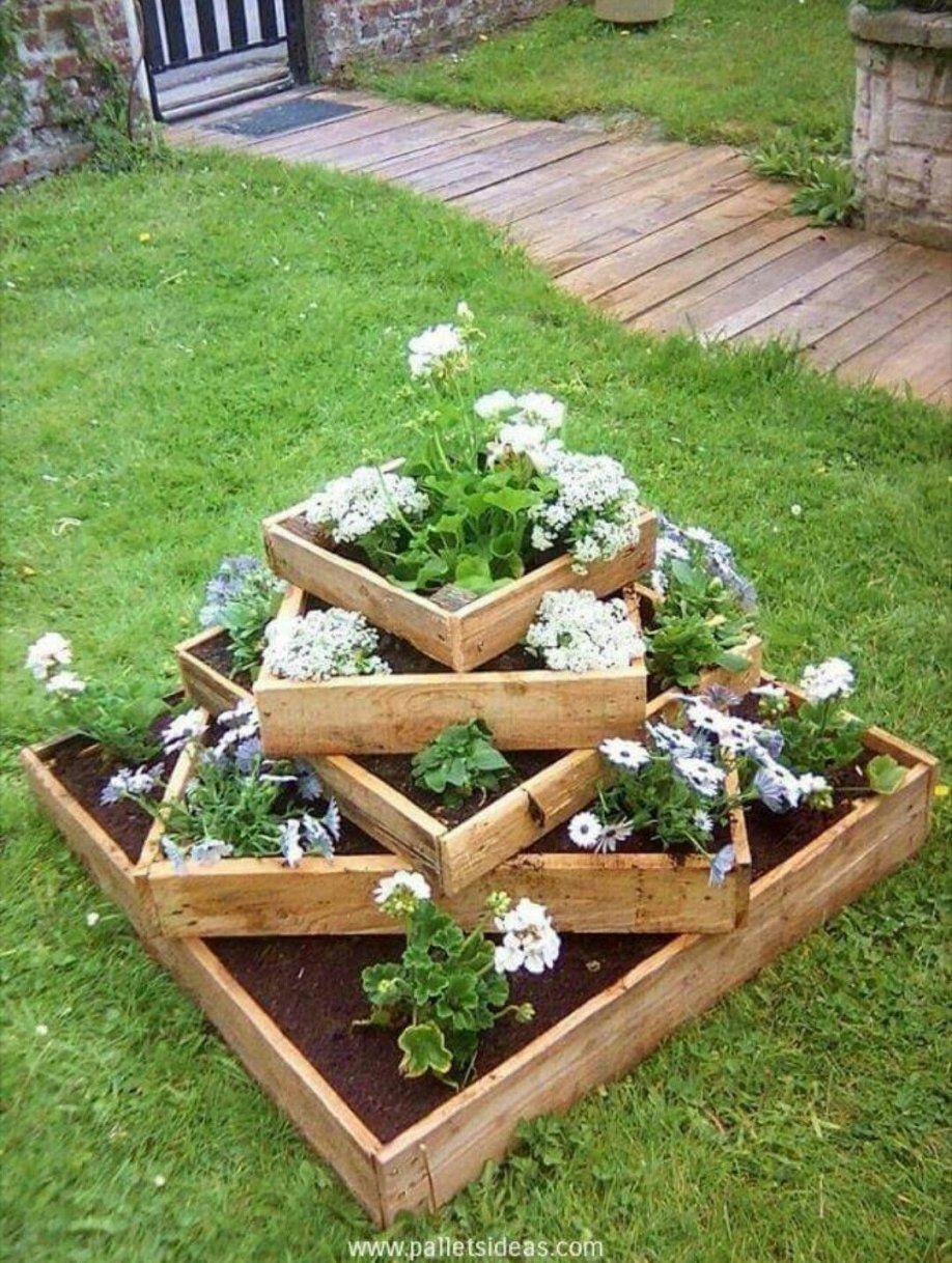 Pin Von Leah Walsh Auf Homeflower Gardening & Our Outside Oasis von Paletten Ideen Für Den Garten Photo