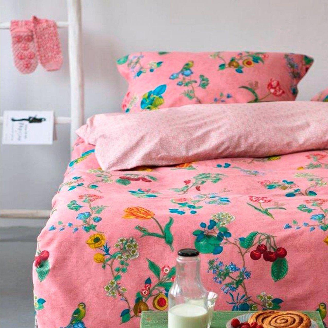 Pip Bettwasche Studio Cherry Pink Birds In Paradise Grey 200×220 155 von Pip Bettwäsche 200X220 Photo