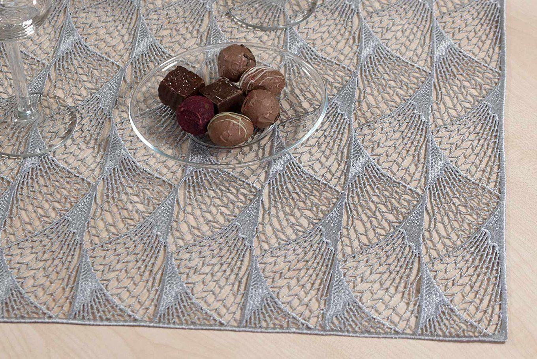 Plauener Spitze Modern Gardinen Tischdecken Tischläufer Tischbänder von Gardinen Spitze Modern Photo