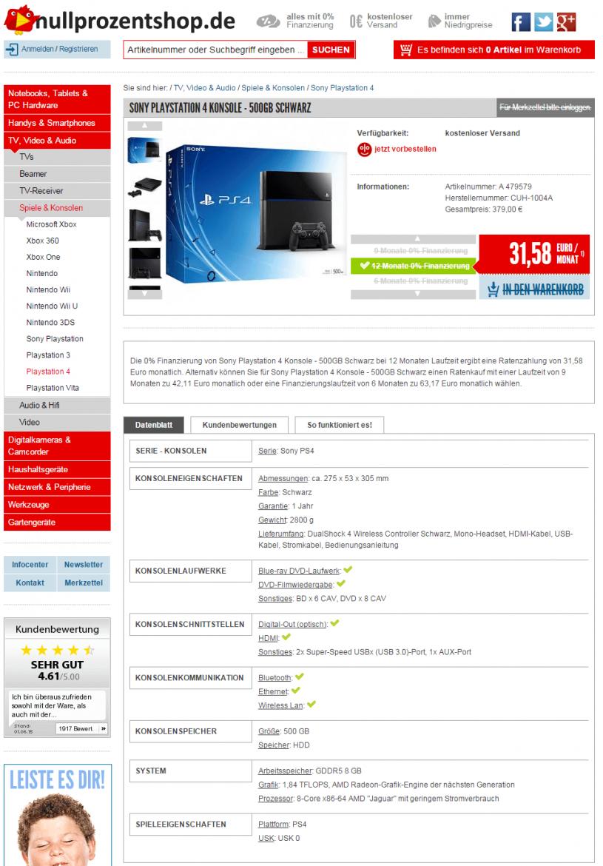 Playstation 4 Auf Raten  Diese Shops Bieten Ratenzahlung von Ps3 Spiele Auf Rechnung Bestellen Als Neukunde Bild