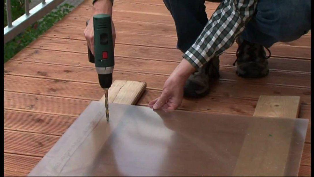 Plexiglas® Tv How To Balkonbrüstung Selbst Bauen  Youtube von Fenster Plexiglas Selber Bauen Bild
