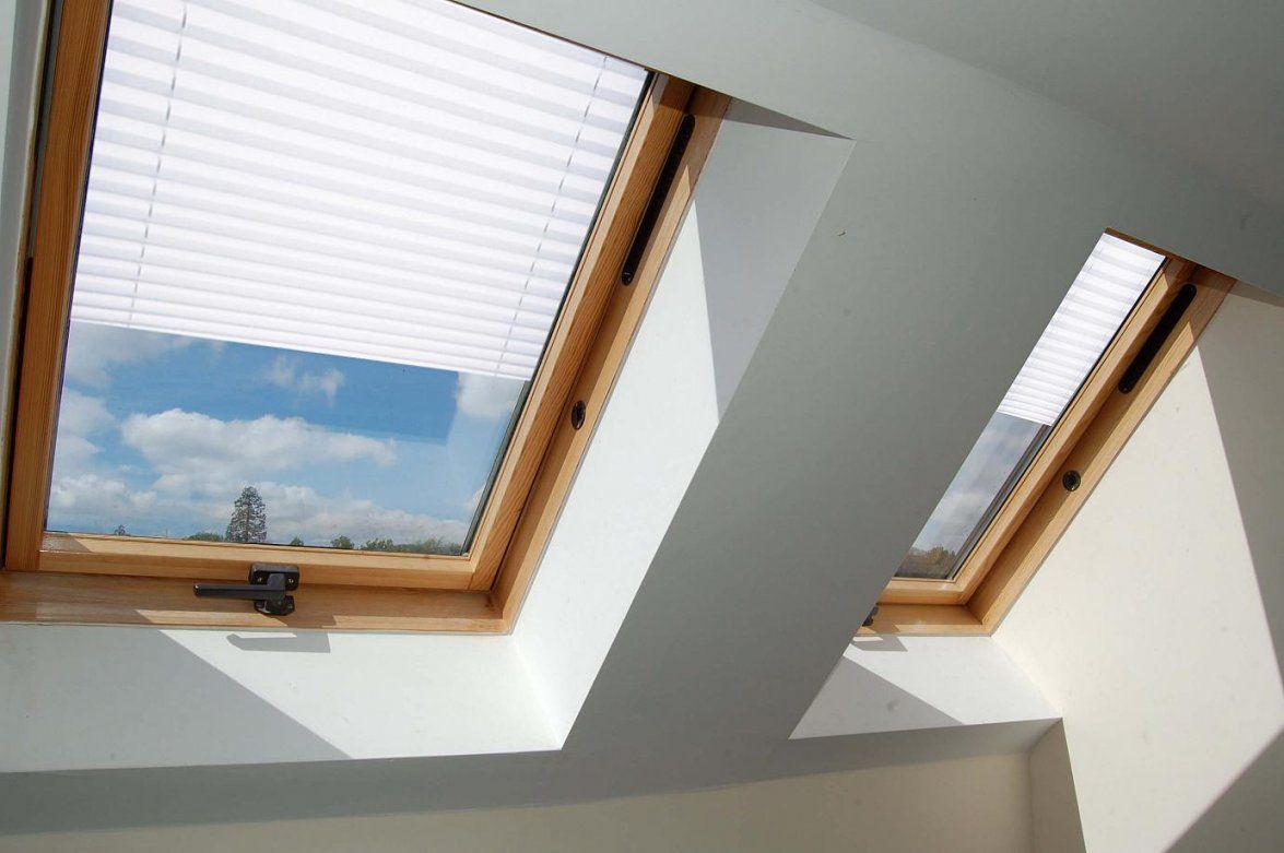 Plissee Dachfenster  Plissee Für Dachfenster Ohne Bohren von Roto Dachfenster Plissee Ohne Bohren Bild