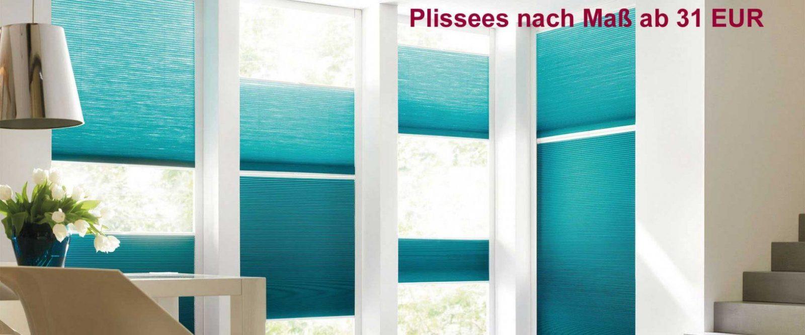 Plissee Nach Maß Ab 31 Eur  Sicht Und Sonnenschutz Nach Maß von Plissee Für Bodentiefe Fenster Photo