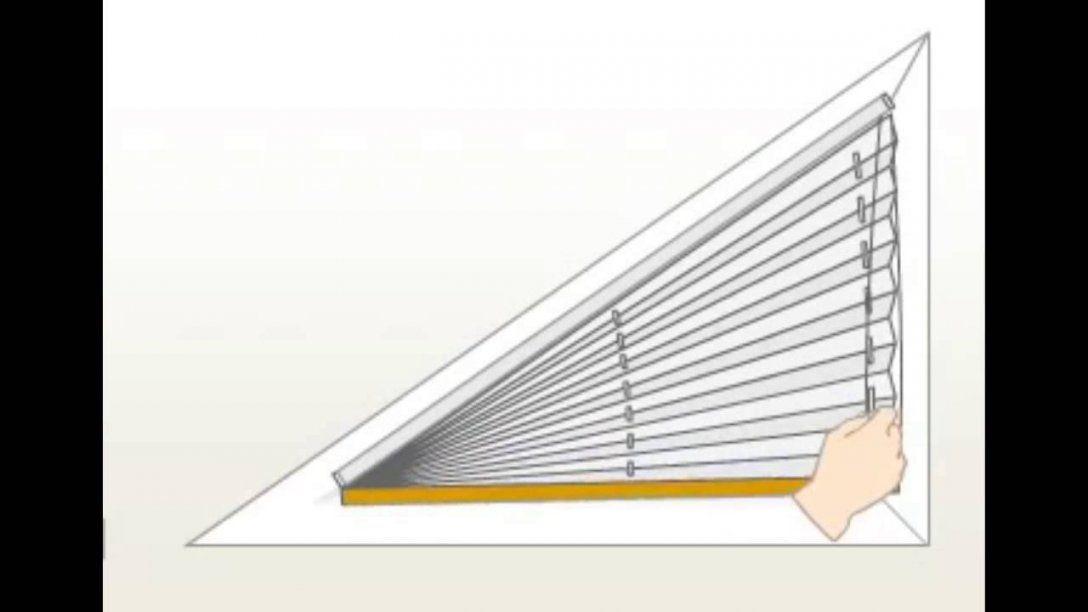 Plisseefunktion Am Dreieckfenster  Youtube von Jalousien Für Dreieckige Fenster Photo