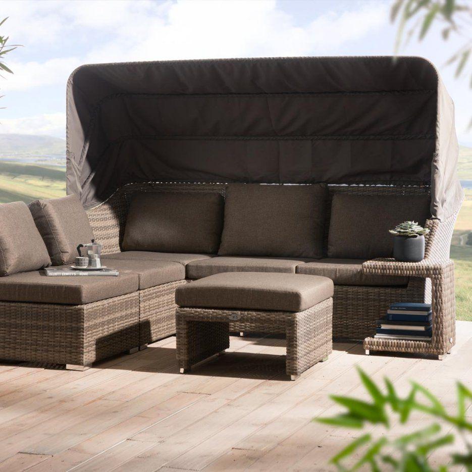 Ploß Rabida Loungeecke 5Teilig Geflecht  Garten & Freizeit von Ploß Rabida Lounge Set Bild