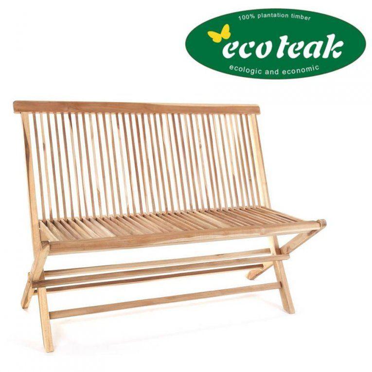 Ploss Eco Teak Holz Klappbare Bank Milford 120 Cm Gartenbank von Gartenbank Holz 120 Cm Photo