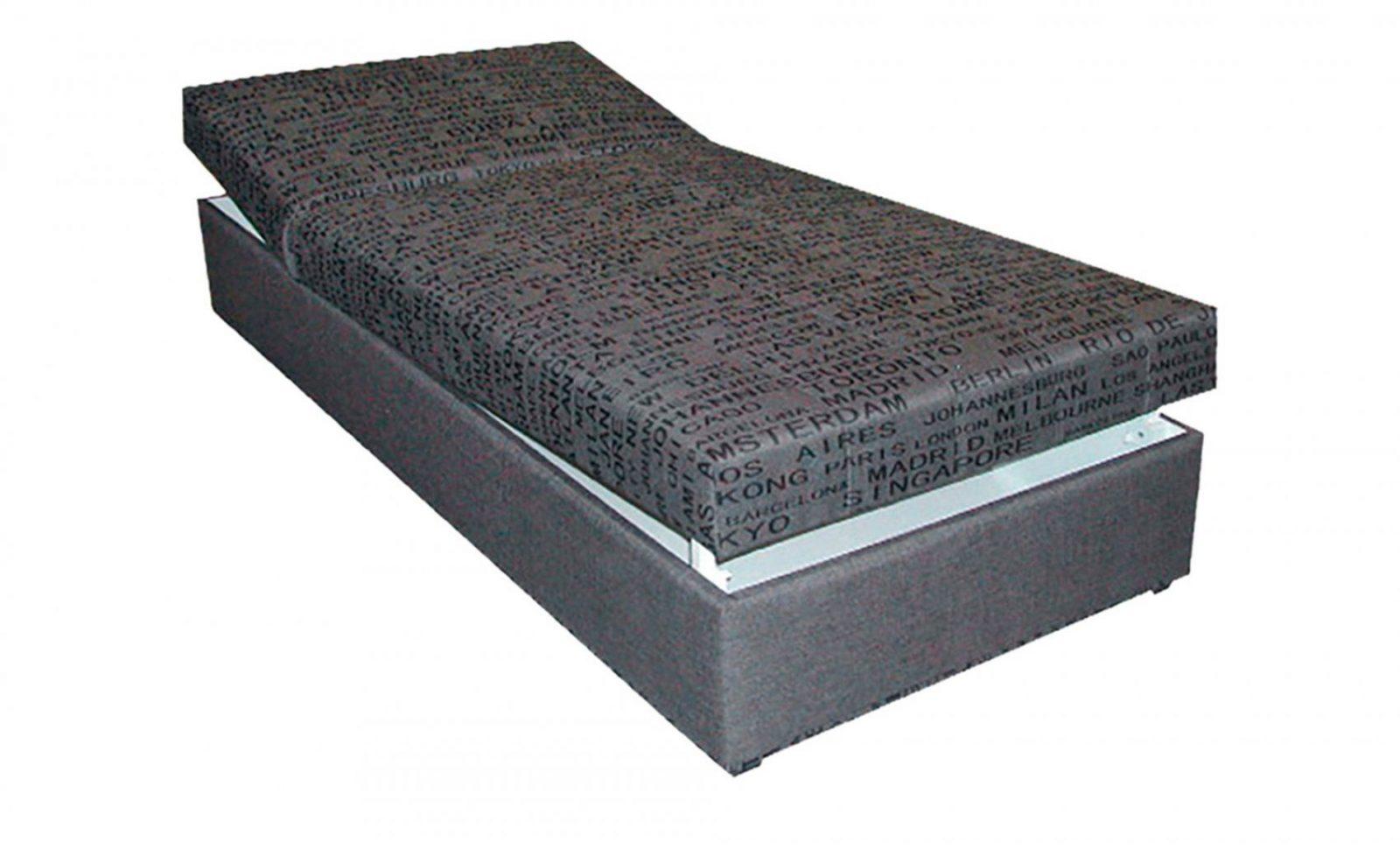 Polsterliege Liegefläche Ca 90X200 Cm  Grau von Polsterliege Mit Bettkasten 90X200 Photo
