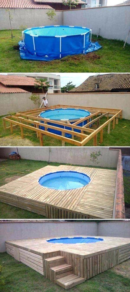 Pool Aus Holz Selber Bauen Ehrfurcht Gebietend Poolumrandung Rund von Poolabdeckung Selber Bauen Holz Photo